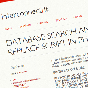 Search and Replace: Buscar y reemplazar en base de datos