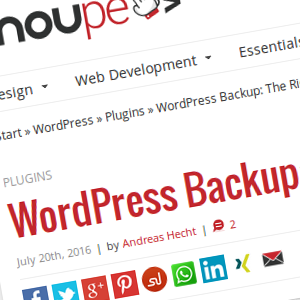 WordPress Backup: La estrategia correcta