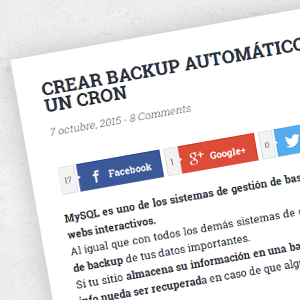 Crear backups automáticos de MySQL (Windows)