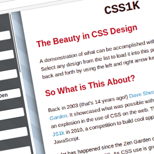 What can be done with 1k of CSS?