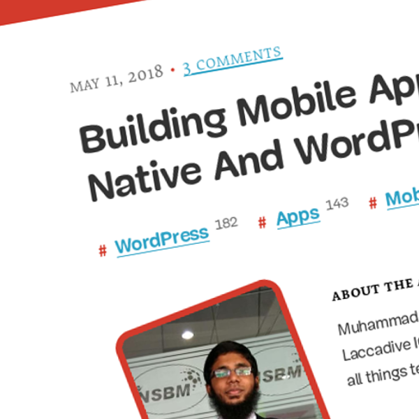 Building Mobile Apps Using React Native And WordPress