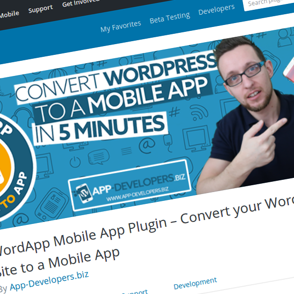 Convert your WordPress Site to a Mobile App