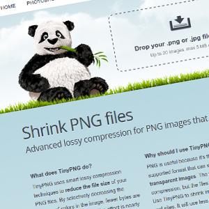 Tiny PNG comprimir imágenes para la web