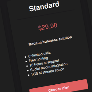 Some Inspiration for Pricing Tables