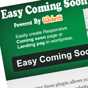 WordPress Easy Coming Soon plugin