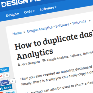 How to duplicate dashboards in Google Analytics