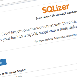 SQLizer convert Excel to SQL