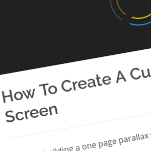 How To Create A Custom Preloading Screen