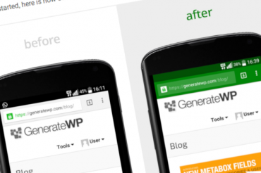 Cambiar el color de la barra de direcciones en WordPress