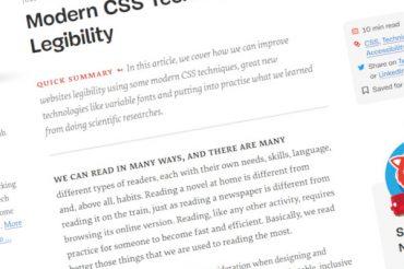 Técnicas modernas de CSS para mejorar la legibilidad