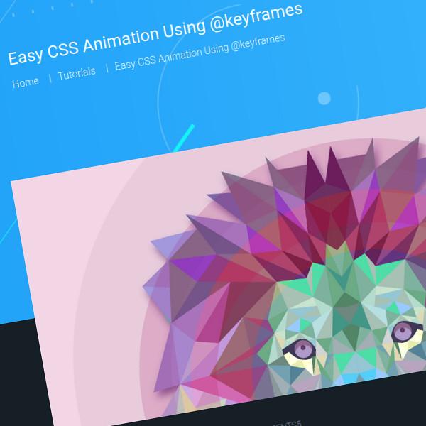 Animación CSS fácil usando @keyframes