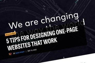 5 consejos para diseñar sitios web de una página que funcionen