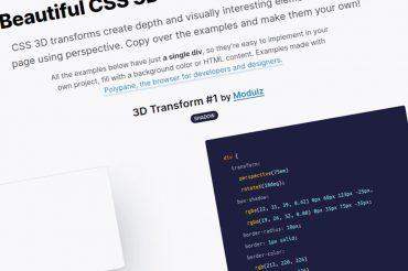 Hermosos ejemplos de transformación CSS 3D