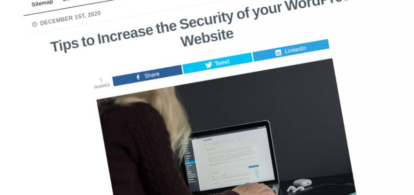 Consejos para aumentar la seguridad de su sitio web de WordPress