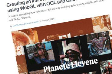 Creación de una galería de desplazamiento automático infinito usando WebGL con sombreadores OGL y GLSL
