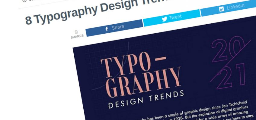 8 tendencias de diseño tipográfico para 2021 – [Infografía]