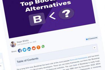 Principales alternativas de Bootstrap