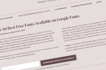 Las 40 mejores fuentes gratuitas disponibles en Google Fonts