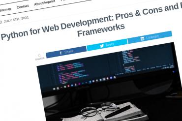 Python para desarrollo web: pros, contras y mejores frameworks