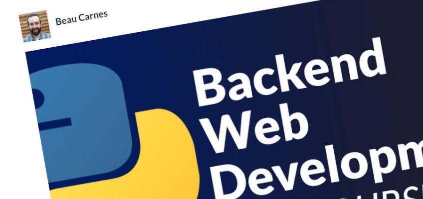 Desarrollo web backend con Python – Curso completo