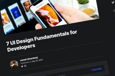 7 conceptos básicos del diseño UI para desarrolladores