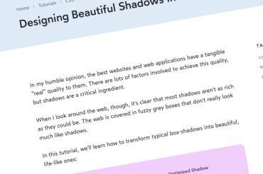 Diseñando hermosas sombras en CSS